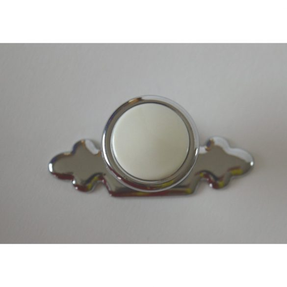Metal base with plastic insert. Knob furniture handle