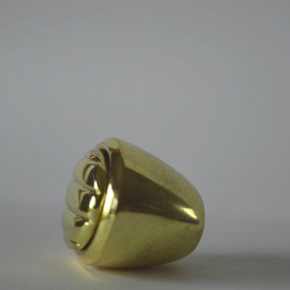Fém bútorfogantyú, arany színű bútorgomb