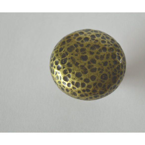 Fém bútorgomb, patinás bronz színű