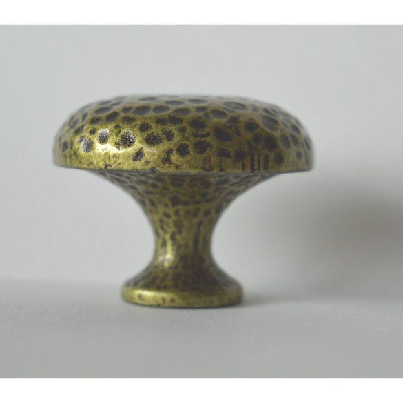 Klasszikus fém bútorfogantyú, patinás bronz színű