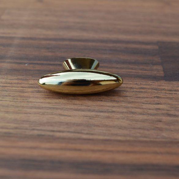 Fém bútorfogantyú, kicsi, arany színű gomb