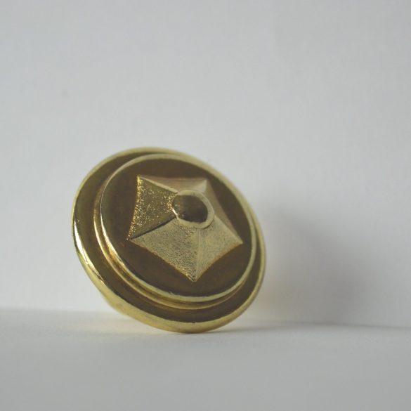 Möbelgriff, goldfarbener Möbelknopf aus Metall