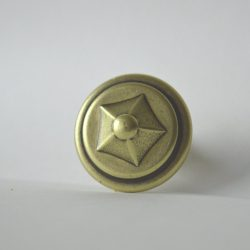 Classic bronze coloured metal furniture knob