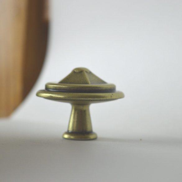 Fém bútorgomb,  bronz színű