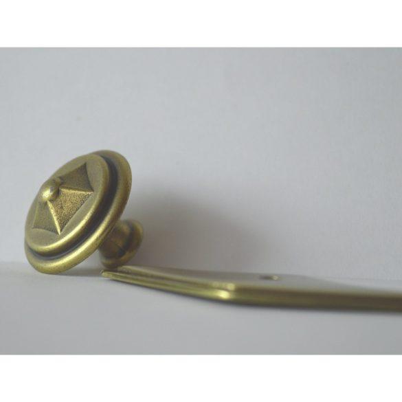 Möbelknopf und Sockel aus Metall, Bronze glänzend