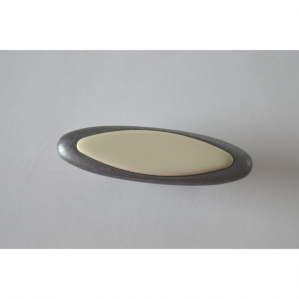 Antik-Metall-Möbelgriff, antik schwarz, beige marmoriert, 32 mm