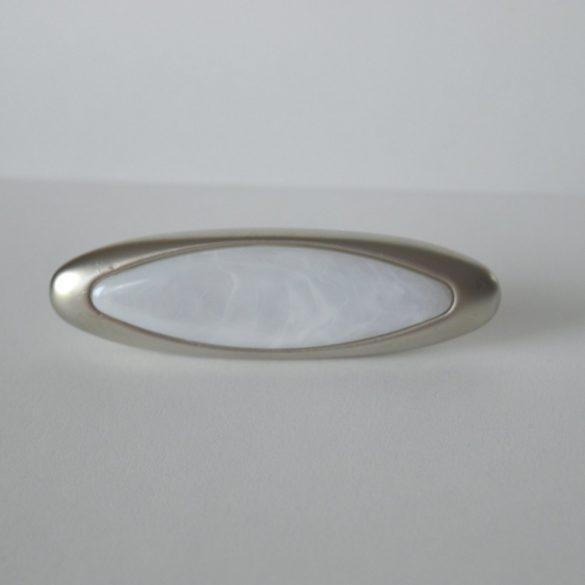 Metall-Möbelgriff, Nickel matt, Marmormuster, Bohrung 32 mm