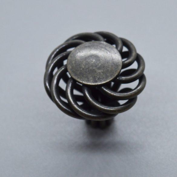 Rustic style antique black metal furniture knob