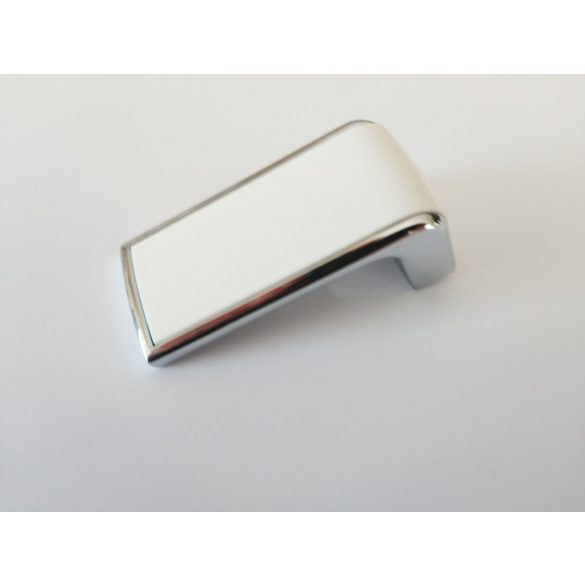 TACA metal-plastic furniture handle in bright chrome and matt white with 16 mm hole spacing