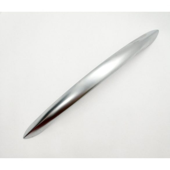 PIOMBINA metal furniture handle, matt chrome colour, with 96 and 128 mm hole spacing