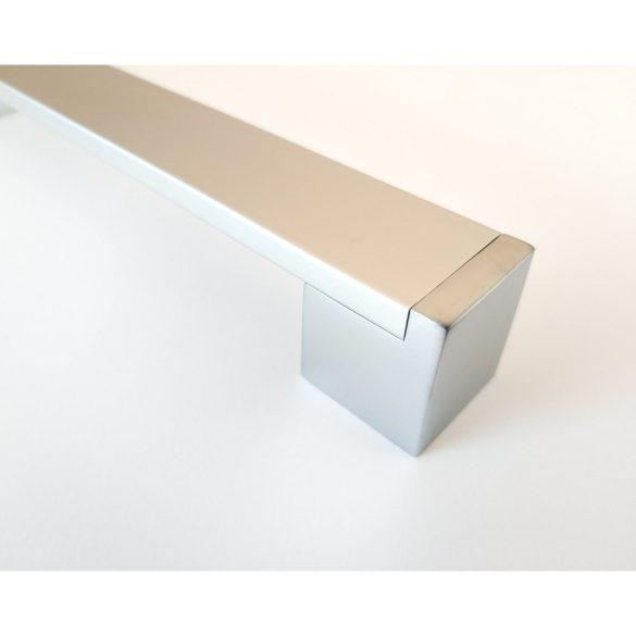 KOFU bútorfogantyú, Szatén króm - alumínium, fém bútorfogantyú, 160 mm furattávolság