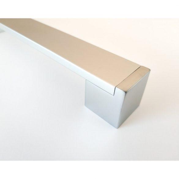 KOFU fém bútorfogantyú, szatén króm - alumínium színű, 384 mm furattávval
