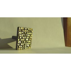Metal furniture handle, Bronze, 32 mm hole spacing