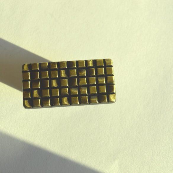 Metal furniture handle, bronz colour, 32 mm hole spacing