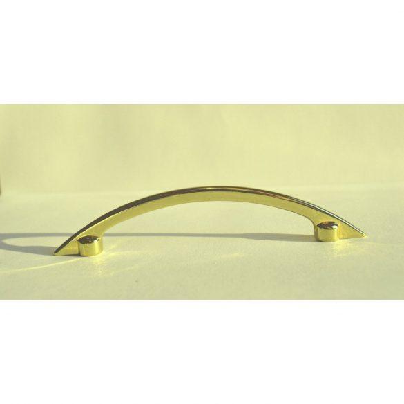 Fém bútorfogantyú, fényes arany színű, 96 mm furattáv