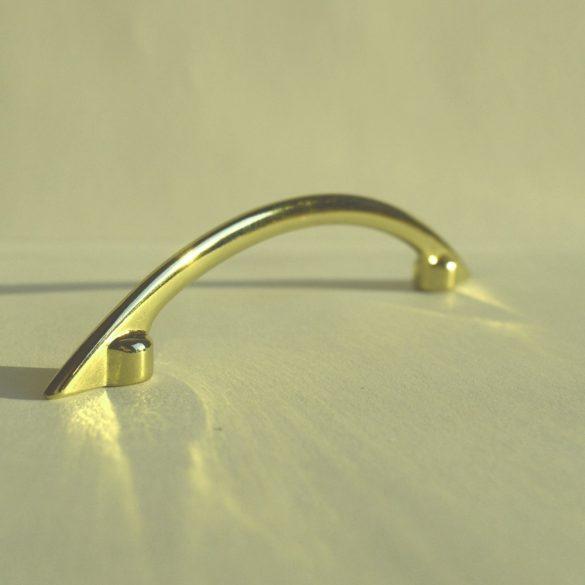 Fém bútorfogantyú, fényes arany színű, 96 mm furattávval