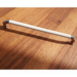 Fém-műanyag bútorfogantyú, 160 mm furattávolság, króm-fehér színben