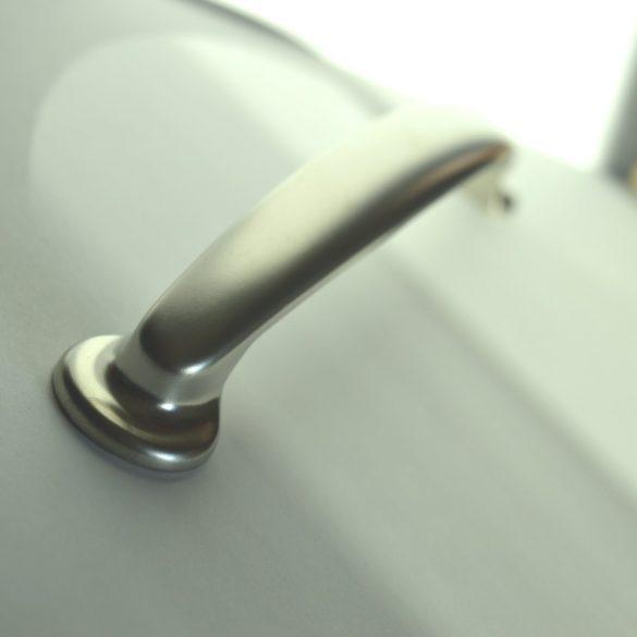 Metal furniture handle, Matt nickel colour, 160 MM bore size