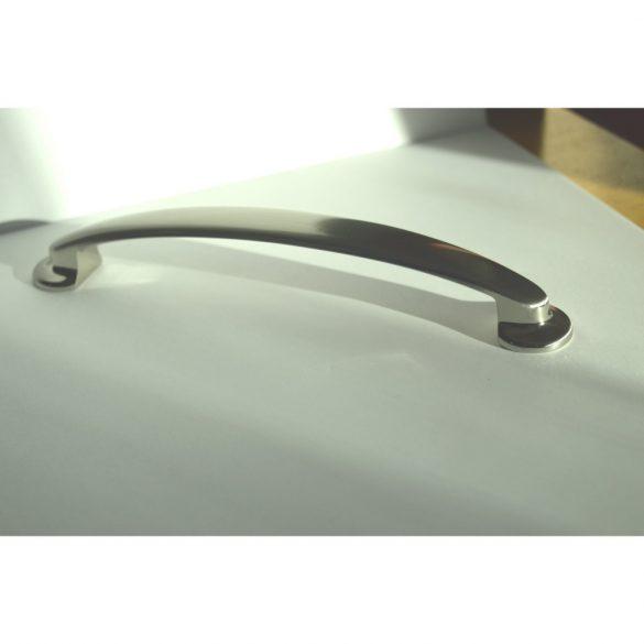 Metal furniture handle, silk gloss chrome, 160 mm bore size, classic