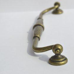 Patina bronze coloured metal furniture handle