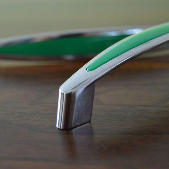 Zöld-ezüst bútorfogantyú