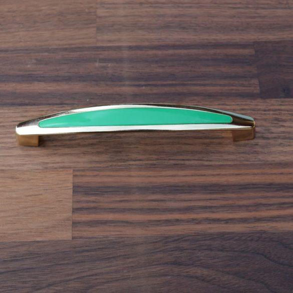 Zöld-arany bútorfogantyú
