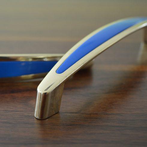 Arany-kék bútorfogantyú