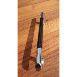 Fém-műanyag bútorfogantyú, króm - fekete színű, 96 mm furattáv