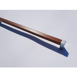 Műanyag bútorfogantyú, króm és fa hatású műanyag, 320 mm furattáv, Modern stílus