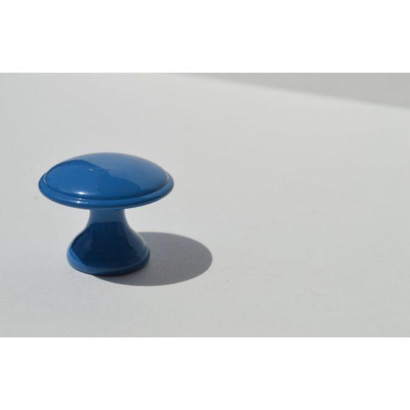Metal furniture knob, blue colour