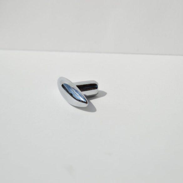 Metal furniture knob, shiny chrome