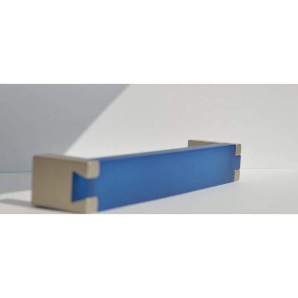 Blue - matt chrome metal-plastic furniture handle