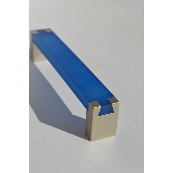 Blue - champagne-coloured, metal-plastic furniture handle