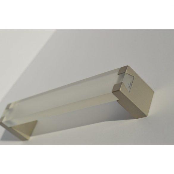 Transparent - champagne coloured, metal-plastic furniture handle