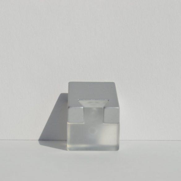 Metal-plastic furniture handle, transparent - matt chrome