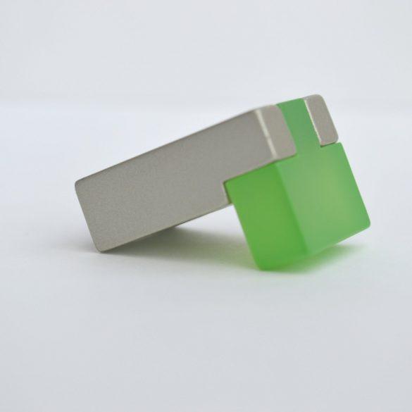 Fém-műanyag bútorfogantyú, zöld - pezsgő színű