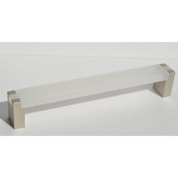 Fém-műanyag bútorfogantyú, pezsgő - átlátszó színű, 160 mm furattávval