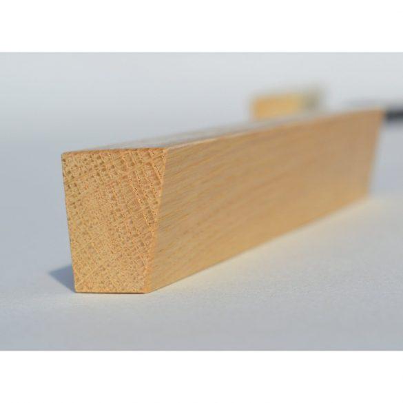 Fa bútorfogantyú, lakkozott bükk, 128 és 160 mm furattávval
