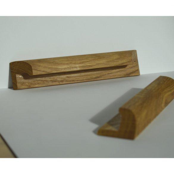 Fa bútorfogantyú, olajozott tölgy, 64 - 96 - 128 mm furattávval