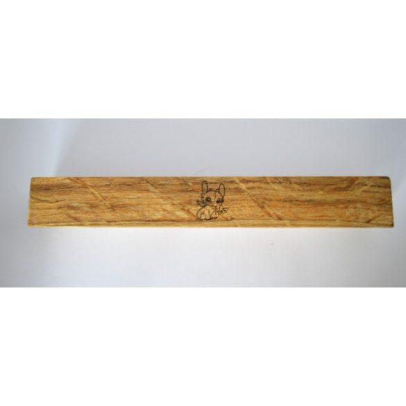 Tömörfa bútorfogantyú, SÁRKÁNY tölgy, gravírozott, 64 - 96 - 128 mm furattávval