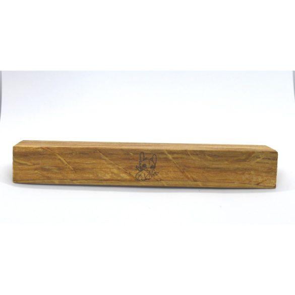 Tömörfa, gravírozott, SÁRKÁNY tölgy bútorfogantyú, 64-96-128 mm furattávval