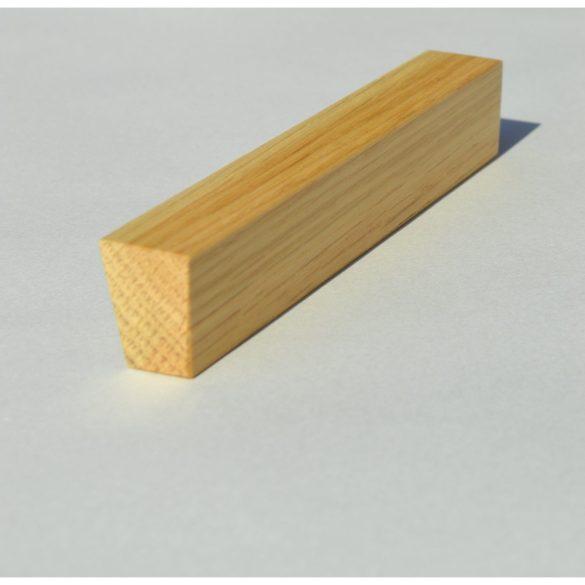 Fa bútorfogantyú, lakkozott tölgy, 64-96-128 mm furattávval