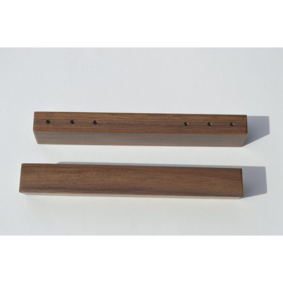 Solid wood, lacquered walnut handle
