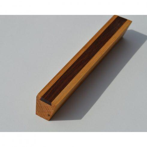 Fa bútorfogantyú, olajozott tölgy-dió, 64-96-128 mm furattávval