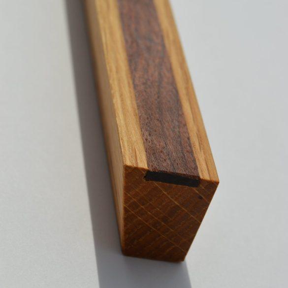 Fa bútorfogantyú, olajozott tölgy-dió, 64 - 96 -128 mm furattávval