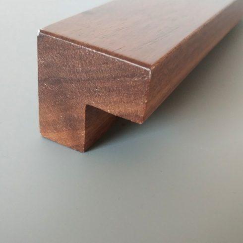 Walnuss Massivholz Möbelgriff mit BA 64-96-128 mm, lackierte Oberfläche