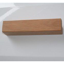 Fa bútorfogantyú, olajozott tölgy, 128 és 160 mm furattávval