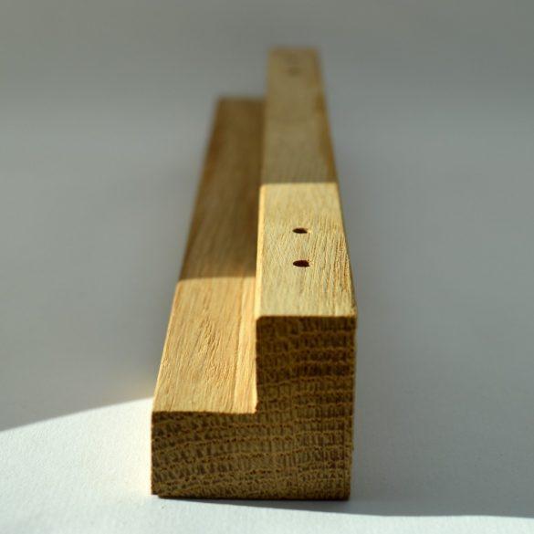 Engraved solid wood furniture handle
