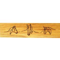 Tömörfa, tölgy, gravírozott, olajozott bútorfogantyú, 64-96-128 mm furattávval