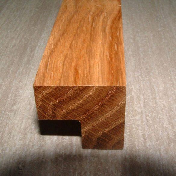Tömörfa bútorfogantyú, lakkozott tölgy, 64 - 96 - 128 mm furattávval